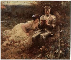 The Temptation of Sir Percival by Arthur Hacker