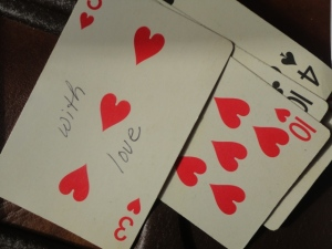Someone's poker poetry hand