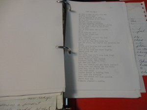 My notebook of old typewritten poems